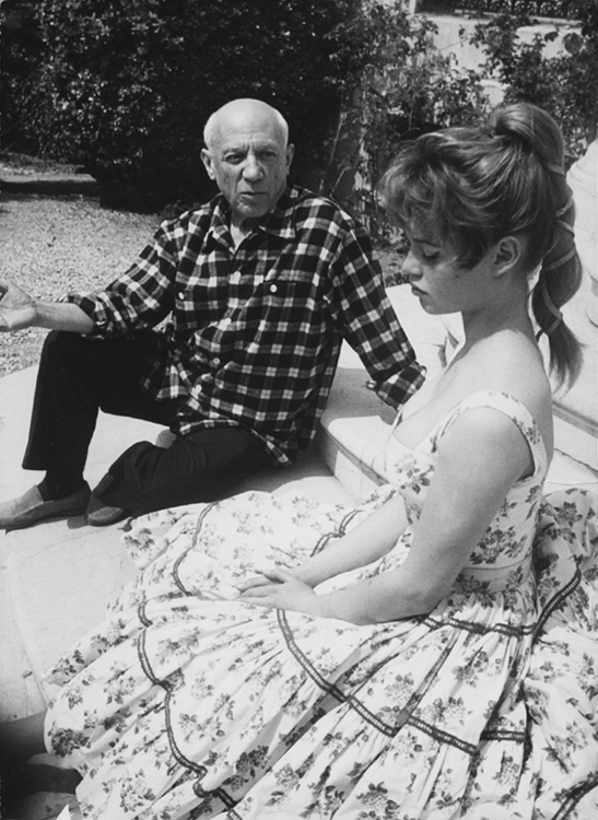 Picasso and Bardot at Vallauris