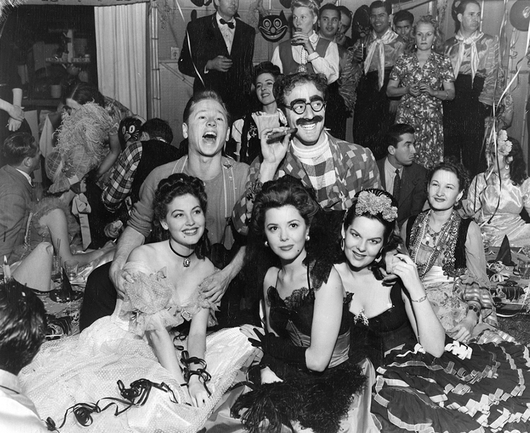 Ava Gardner at a Halloween party