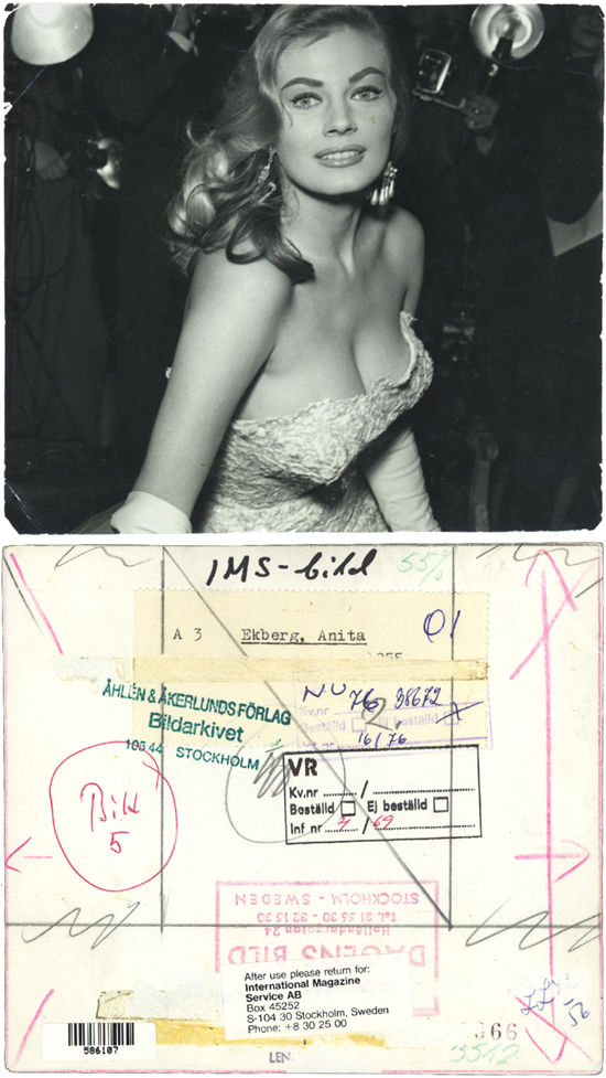 anita ekberg front and back