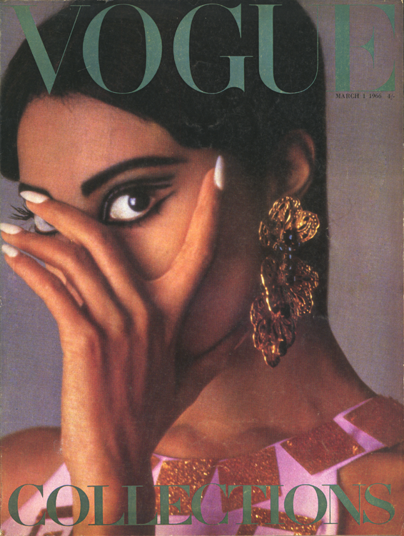 1966. Donyale Luna on the cover of Vogue.