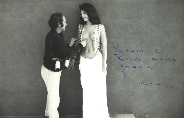 Angelo Frontoni with Ira von Fürstenberg