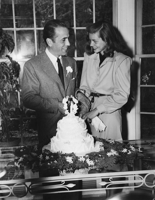 bogart bacall wedding cake