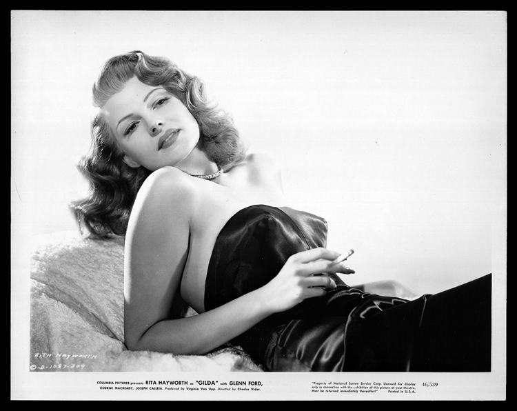 Gilda – mini lobby card featuring Rita Hayworth